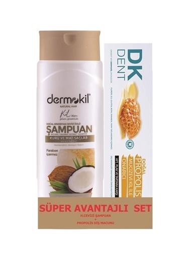 Dermokil Dermokil Hindistan Cevizi Şampuan 400 ml + Propolis Diş Macunu 75 ml-2'li Avantajlı Set Renksiz